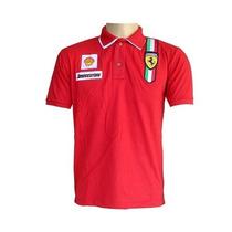 Camisa Polo Ferrari Importada Gola Dupla