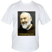 Camiseta Personalizada Santo Padre Pio Masc/femin Malaha Pv