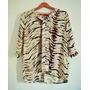 Pronta Entrega Camisa Blusa Animal Print Tigre Social Casual