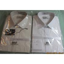 Kit 2 Camisas Raphy,ref.51662 Tam.44(5) Branco /marfim, M L.