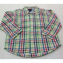 Tommy Hilfiger - Camisa Xadrez Manga Longa Infantil