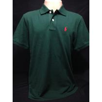 Camiseta Polo Ralph Lauren Verde Com Cavalo Vermelho Tam Ggg