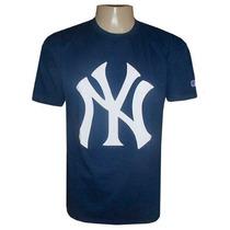 Camiseta New York Yankees Baseball Branca E Preta