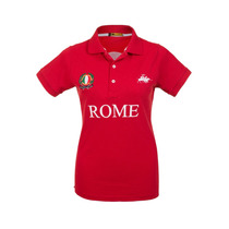 Camisa Polo Feminina Rome Vermelha - Club Polo Collection