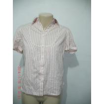 Linda Camisa Com Detalhe De Renda Na Cintura - Tam: M