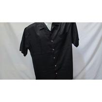 Camisa Imp Tommy Bahama Seda Preta G Texturizada 437
