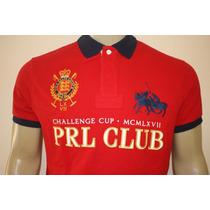 Camisa Gola Polo Custom Fit Prl Club Polo Ralph Lauren