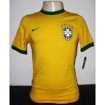 Camisa Seleção Brasileira De Futebol Nike Brasil P,m ,g E Gg
