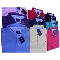 Camisas Polos Masculino Varias Marcas Kit C/5 Peças