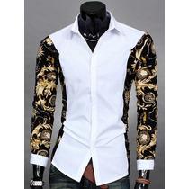 Camisa Social Slim Fit Floral Importada - Frete Grátis
