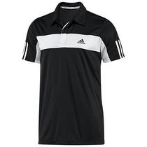 Camiseta Pólo Adidas Tenis Preta