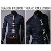 Camisas Masculina Slim Fit Luxo 2015 Importada
