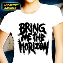 Camiseta Bring Me The Horizon Camisa Baby Look Feminina Moca