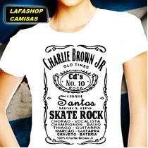 Camisa Charlie Brown Jr Camiseta Baby Feminina Jack Familia