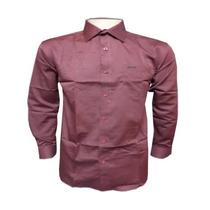 Camisa Social Hugo Boss Vermelha Lisa C/ Bolso