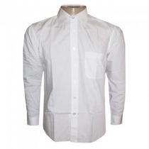 Camisa Social Hugo Boss Branca Lisa C/ Bolso