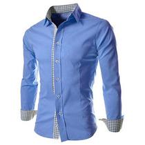 Camisa Social Slim Fit Importada - Modelo M1 - Frete Grátis