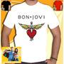 Camiseta Bon Jovi Guns Ramones Rock Punk Metal Camisa Branca