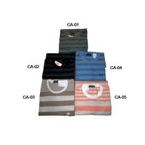 Kit Camiseta Gola Careca Canoa 2 Un.malha Listrada P M G Gg