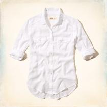 Hollister Camisa Feminina Tamanho G Branca