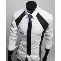 Camisa Social Masculina Pronta Entrega Camisas Slim Fit Luxo