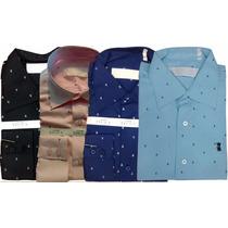 Camisa Social Masculina Sergio K Ancora Azul Marinho Sk2016