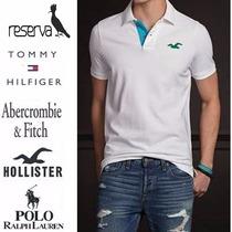 Kit 3 Camisas Polo Hollister Tommy Abercrombie Reserva