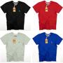 Kit 4 Camisetas Masculina, Sheepfyeld Logo Bordada E Metal