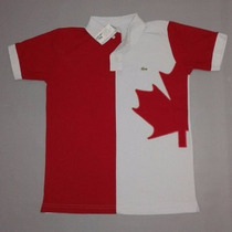 Camisa Polo Lacoste País Canadá