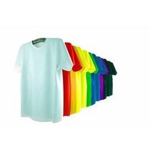 Kit 25 Camisas 100% Poliester, Pv Ou Algodão Sublimação Silk