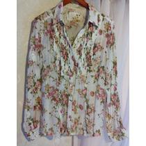 Camisa Renda Floral