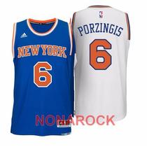 Regata Bordada New York Knicks Kristaps Porzingis Pronta Ent