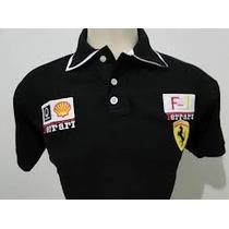 Camisa Polo Ferrari Masculino + Perfume Ferrari Black