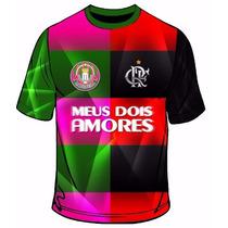 Camisa Da Mangueira Com Flamengo - Meus Dois Amores