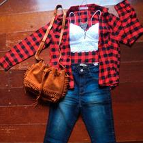 Camisa Xadrez Feminina Flanelada