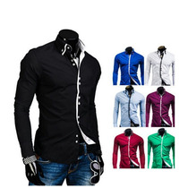 New Fashion Mens Casual Luxury Moda Slim Fit Longo Vestido D