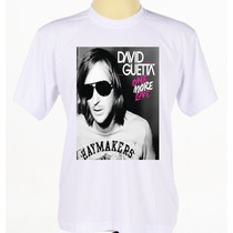 Camisa Camiseta Personalizada Estampada Cantor David Guetta