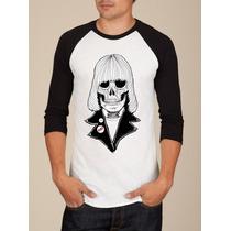 Camiseta Raglan Manga Longa Ramones Rock N