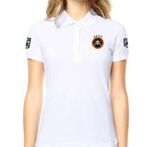 Camisa Gola Polo Bordado Do Bope - Branca Feminina Tática