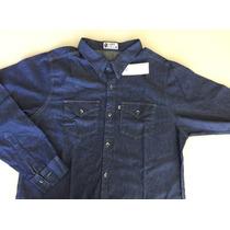 Camisa Jeans Stone 100% Algodão Manga Longa Até Tamanho 8