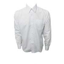 Camisa Masculina Manga Longa Branca Microfibra
