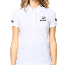 Camisa Gola Polo Glock Perfection - Branca Feminina