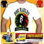 Camiseta Bob Marley Camisa Reggae Jamaica Cannabis Baseado