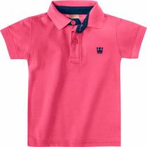 Polo Rosa Infantil Menino Camisa Polo Colorittá C 17643