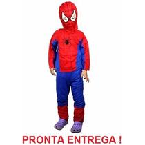 Fantasia Homem Aranha Spider-man - Tam: P, M, G Frete Grátis