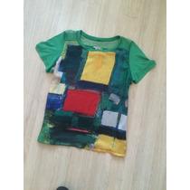 Camisa De Malha Estampada