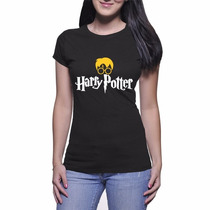 Camiseta Feminina Do Harry Potter - Preto - Baby Look
