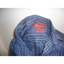 Camisa Social Manga Longa Ducote N 5 Azul Canelada