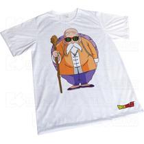 Camisa Sublimação Branca Presente Dragon Ball - Mestre Kami