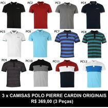 2 Camisas Polo Pierre Cardin Plus Size Luxo Produto Original